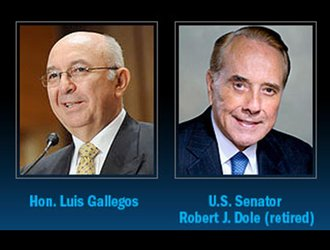 Honorable Luis Gallegos and Retired US Senator, Robert J. Dole