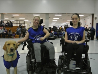 Emma and Tiffany with Guide Dog