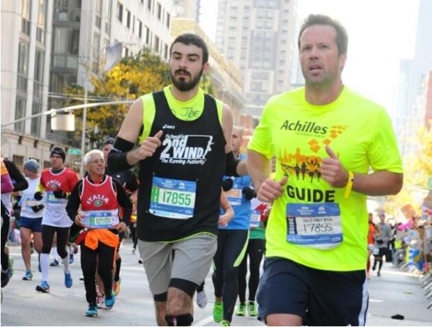 Joe running in the 2014 Marathon.