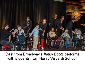 Kinky Boots Cast with Students