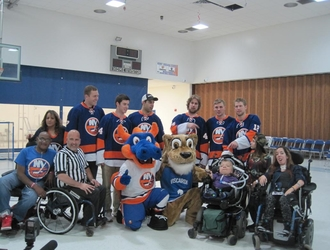 NY Islanders Play Hockey with Viscardi Students