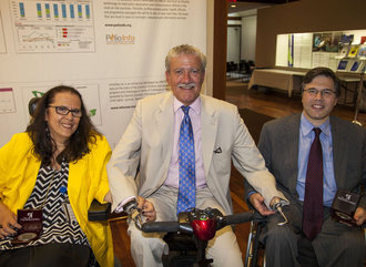 (l to r) Rosangela Berman Bieler, Senior Advisor on Children with Disabilities at UNICEF; John D. Kemp, President & CEO of The Viscardi Center; Michael Ashley Stein, Ph.D., Executive Director of the Harvard Law School Project on Disability