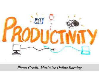 Productivity. Photo Credit: http://maximizeonlineearning.com
