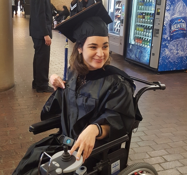 Dayna in a cap and gown.