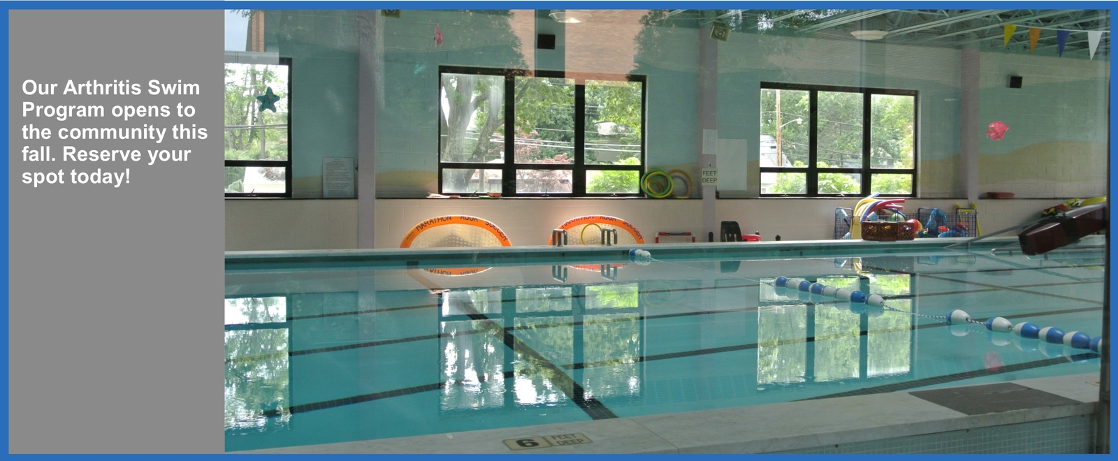Our Arthritis Swim Program opens to the community this fall. Reserve your spot today!