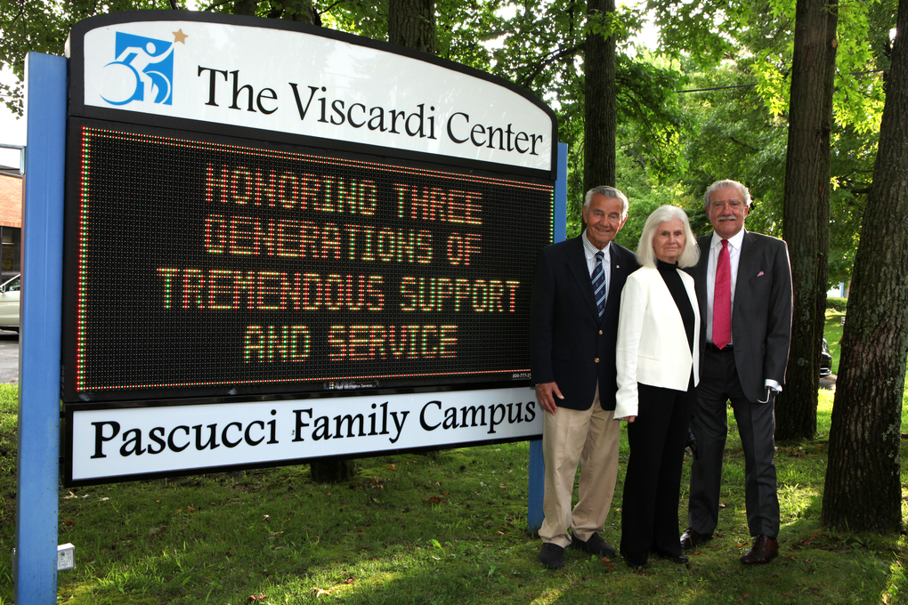 Michael and Jocelyn Pascucci and John D. Kemp, President & CEO of The Viscardi Center