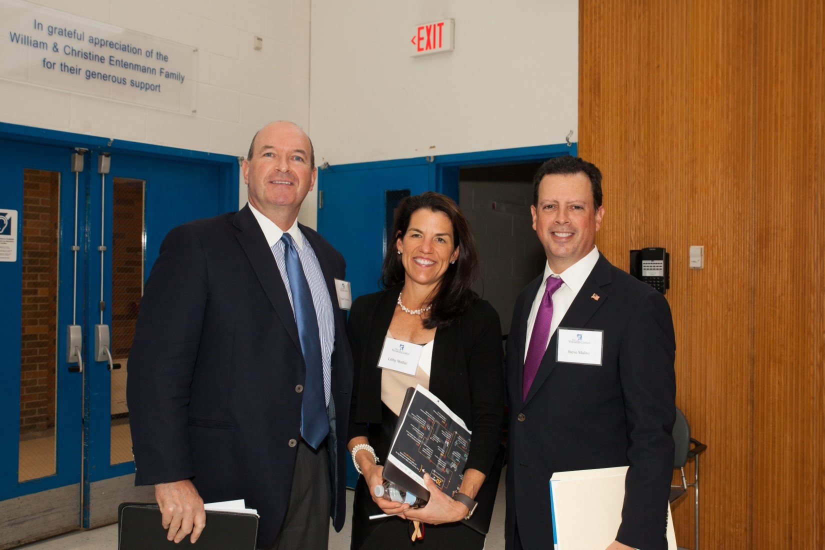 [L-R] Panelists Peter Thomas, Principal, Powers Law Firm, with Libby Mullin, President, Mullin Strategies and Steve Malito, Esq., Davidoff Hutcher & Citron LLP gather at the Project Accessible Oral Health event for a panel on Public Policy Trends, Past, Present & Future.