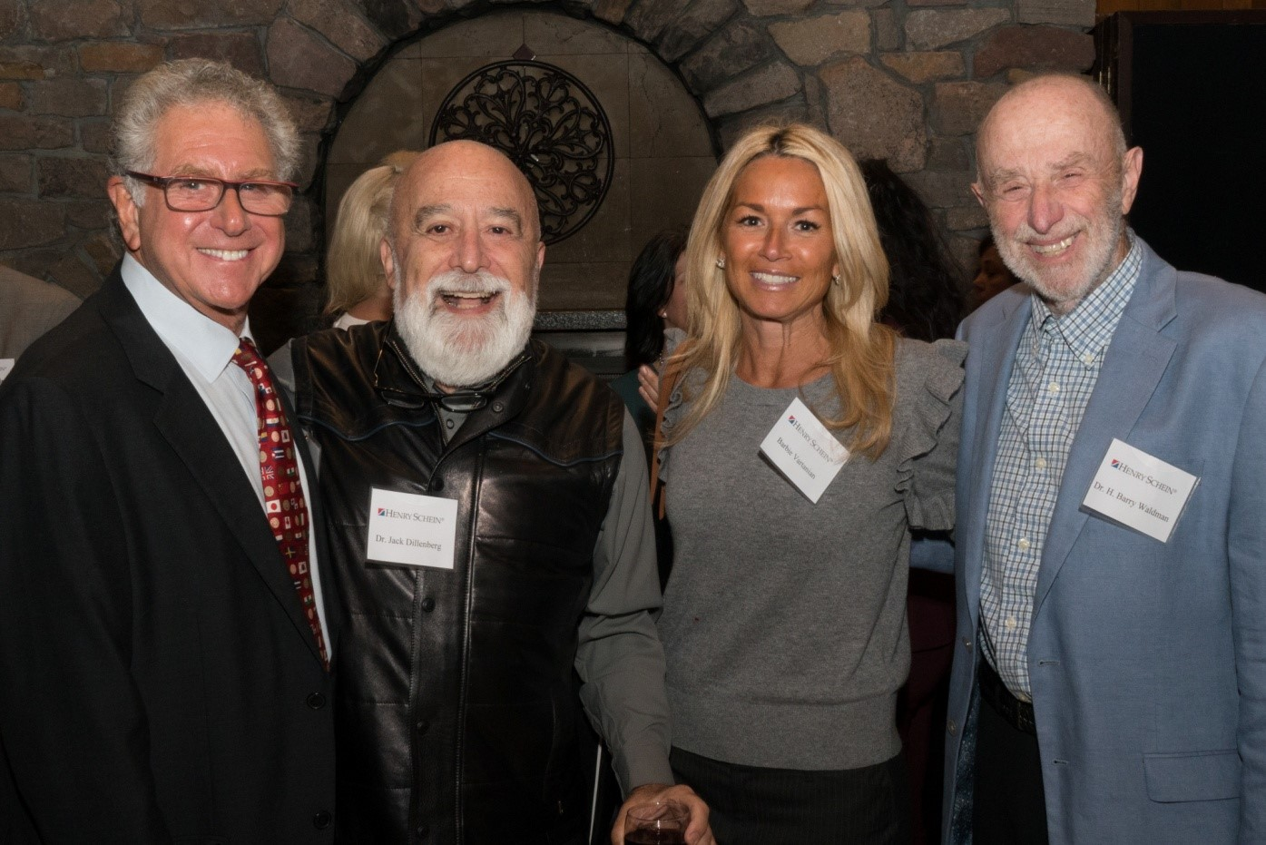 [L-R] Dr. Steve Perlman of Special Olympics, Special Smiles joins Dr. Jack Dillenberg, Arizona School of Dentistry & Oral Health, Barbie Vartanian, Pacific Dental Foundation and Dr. Barry Waldman, Stonybrook University, at the Project Accessible Oral Health 2017's annual event dinner.