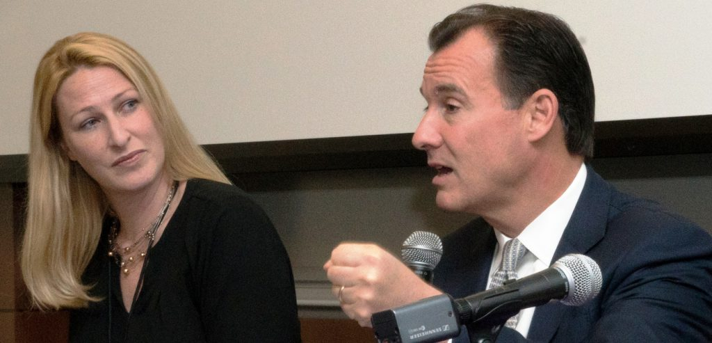 Jill Malmgren, Executive Director, America's ToothFairy: National Children's Oral Health Foundation and Tom Suozzi, U.S. Congressman, participating at a Project Accessible Oral Health breakout session.