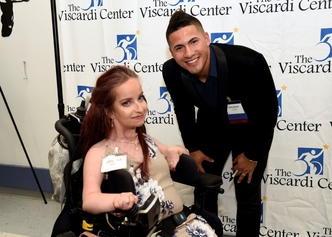 New York Yankee, Gleyber Torres, with Henry Viscardi School graduate, Jessica, at Celebrity Sports Night 2019.
