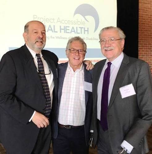 Our Chairman, and President & CEO of The Viscardi Center, John D. Kemp [RIGHT] joined Professor Steven Eidelman, of the University of Delaware [LEFT] and Dr. Steve Perlman [CENTER], of Special Olympics & a Project Accessible Oral Health Board member at Keystone First's town hall event on Friday, November 8.