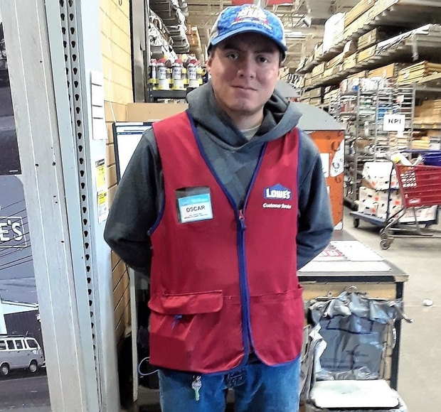 Oscar at Lowe's Home Improvement.