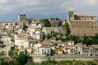 City panorama of Altomonte, Calabria, Italy