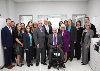 Executives from The Viscardi Center and Canon.