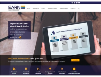 Screenshot of EARN's homepage, www.askearn.org