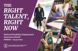 The Right Talent, Right Now. National Disability Employment Awareness Month (NDEAM)