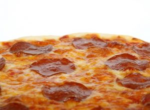 Image of a pepperoni pizza.