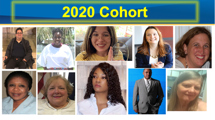 Tiled headshots of the 10 NCDE Alumni from the 2020 Cohort